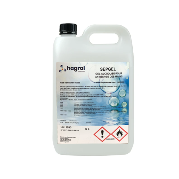 Gel Hydroalcoolique SEPGEL 5 Litres