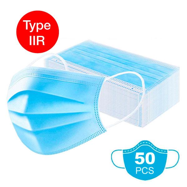 50 Masques de chirurgie type IIR